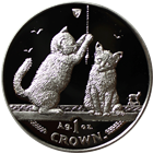 2001 1 oz Proof Silver Somali Kittens Isle of Man (With Box and COA)