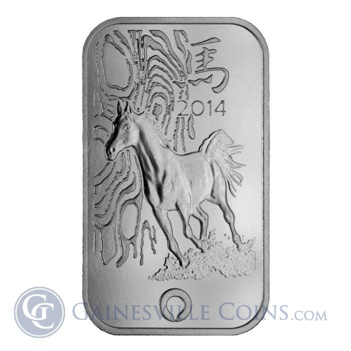 Image Showcase for 1 oz Rand Refinery Thoroughbred Horse Silver Bar - .999 Pure