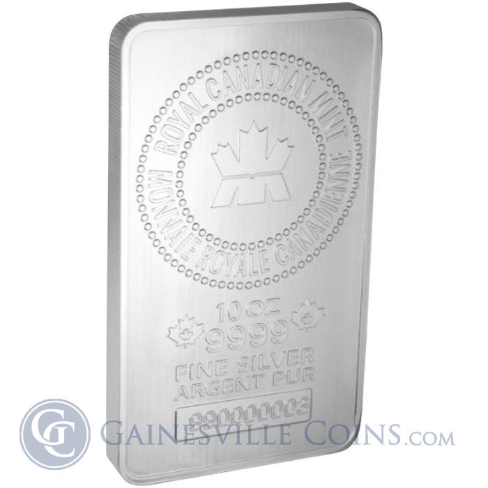 Image Showcase for 10 oz Royal Canadian Mint Silver Bar (New Style) .9999 Pure