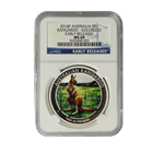 2014 Australia Silver Kangaroo Colorized 1 oz - Berlin NGC MS69 Early Release