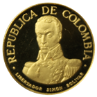 1969 Colombia 100 Pesos Proof Gold Coin (.1244 oz of Gold)