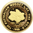 1/10 oz Australian Proof Gold Nugget (Random Date) - Scruffy