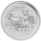 2015 10 Kilo Silver Goat - Australia (Brilliant Uncirculated)