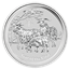 2015 5 oz Silver Year of the Goat - Australia Perth Mint (Brilliant Uncirculated)
