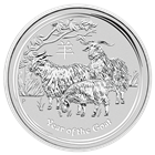 2015 Perth Mint 2 oz Year of the Goat Silver Coin - (Brilliant Uncirculated)