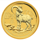 2015 Year of the Goat 1/4 oz Gold Coin - Perth Mint (Brilliant Uncirculated)