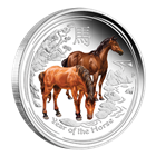 2014 Australia 1/2 oz Proof Silver Horse Colorized
