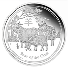 2015 Year of the Goat 1 oz Proof Silver Coin Perth Mint (With Box & COA)