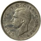 1937-1946 Great Britain Sixpence Silver Coin (.0455 oz of Silver)