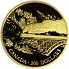 "1996 Canada $200 Proof Gold 1/2 oz  ""Transcontinental Landscapes""  With Box & COA"