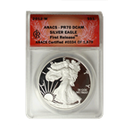 2012 W Proof American Silver Eagle Anacs PF70 - First Release (Stock Photo)