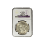 1928 Silver Peace Dollar NGC AU Details - Stained