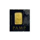1 gram Pamp Suisse Mini Card Gold Bar 999.9 with Assay Certificate.