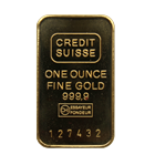 1979 Credit Suisse 1 oz Gold Bar With Original Assay and Gold Bullion Transfer Card (.9999 Pure)