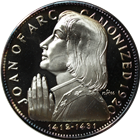 Joan of Arc Proof Sterling Silver Coin (.786 oz of Silver)
