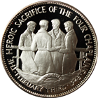 The Heroic Sacrifice of The Four Chaplains Proof Sterling Silver Coin (.786 oz of Silver)