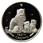 2005 1 oz Proof Silver Himalayan Cat Isle of Man (With Box and COA)