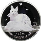 2011 1 oz Isle of Man Proof Silver Turkish Angora Cat - Colorized (With Box & COA)