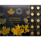 2015 Canadian MapleGram25™ - 25 x 1 gram Gold Maple Leafs (In Assay)