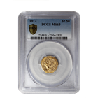 1912 $2.5 Indian Gold Coin PCGS MS63
