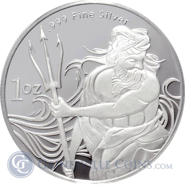 Image Showcase for 1 oz Trident Silver Round (.999 Fine)