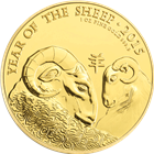 2015 British Royal Mint Year of the Sheep 1oz Gold Coin .999 Fine