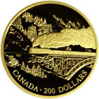 """1996 Canada $200 Proof Gold 1/2 oz  """"Transcontinental Landscapes""""  With Box & COA"""