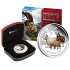 2015 1 oz Proof Silver Goat Australia - Colorized (With Box and COA)
