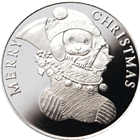 2014 Seasons Greetings 1 oz Silver Round - Puppy in Stocking (.999 Pure)
