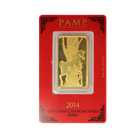 1 oz PAMP Suisse Lunar Horse Gold Bar .9999 Pure