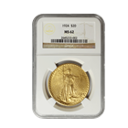 1924 $20 Saint Gaudens Gold Coin NGC MS62