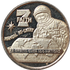 "Faith 7 ""Manual Re-Entry"" .65 oz Silver Round (.999 Pure)"