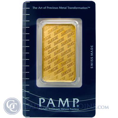 PAMP Suisse 1 oz Gold Bar .9999 Pure (Suisse Design) with Assay Certificate