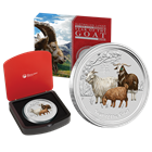 2015 Year of the Goat Kilo Gemstone Silver Coin - Australia