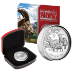 2015 Year of the Goat High Relief 1 oz Proof Silver Coin Australia