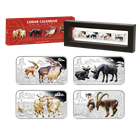 2015 Year of the the Goat 1 oz Proof Silver Rectangle 4 Coin Set