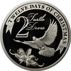 2011 PAMP Suisse Proof Silver $2 Twelve Days of Christmas - Second Day (.80 oz ASW)