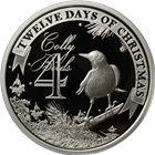 2011 PAMP Suisse Proof Silver $2 Twelve Days of Christmas - Fourth Day (.80 oz ASW)