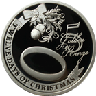 2011 PAMP Suisse Proof Silver $2 Twelve Days of Christmas - Fifth Day (.80 oz ASW)