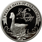 2011 PAMP Suisse Proof Silver $2 Twelve Days of Christmas - Sixth Day (.80 oz ASW)