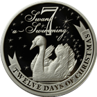 2011 PAMP Suisse Proof Silver $2 Twelve Days of Christmas - Seventh Day (.80 oz ASW)
