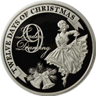 2011 PAMP Suisse Proof Silver $2 Twelve Days of Christmas - Ninth Day (.80 oz ASW)
