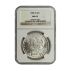 1885-O Morgan Silver Dollar NGC MS65