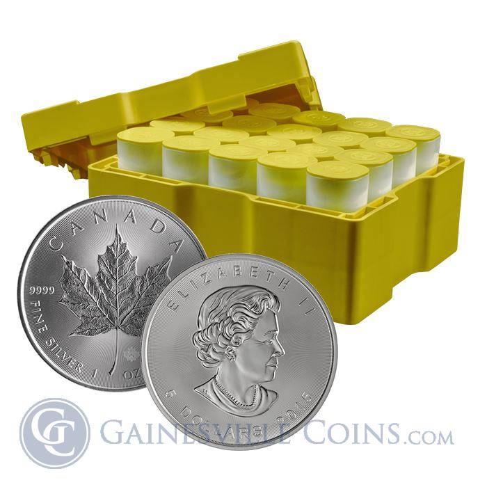 Image Showcase for 2015 1 oz Silver Maple Leaf - Monster Box of 500 Coins