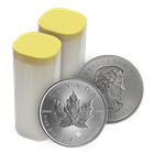 2015 1 oz Canadian Silver Maple Leaf - Roll of 25 Coins