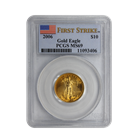 2006 $10 American Gold Eagle 1/4 oz PCGS MS69 First Strike