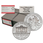 2015 1 oz Austrian Silver Philharmonic - 500 Coin Mint Sealed Monster Box (Brilliant Uncirculated)