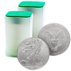 2015 1 oz American Silver Eagle - Roll of 20 Coins (BU)
