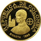 1968 Colombia 100 Pesos Proof Gold Pope Paul VI (.1244 oz of Gold)