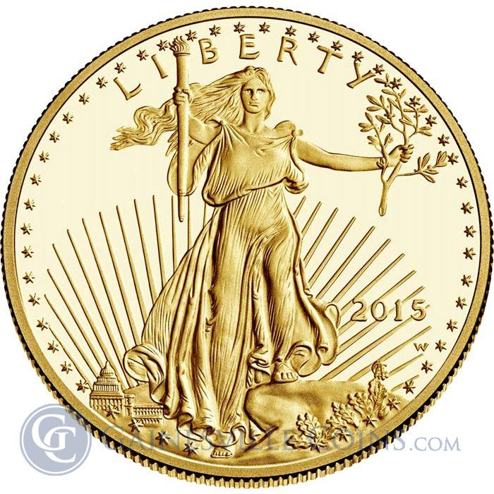 Image Showcase for 2015 1/10 oz Gold American Eagle - Brilliant Uncirculated